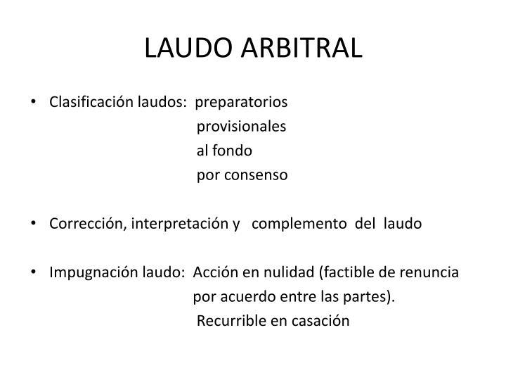 LAUDO ARBITRAL