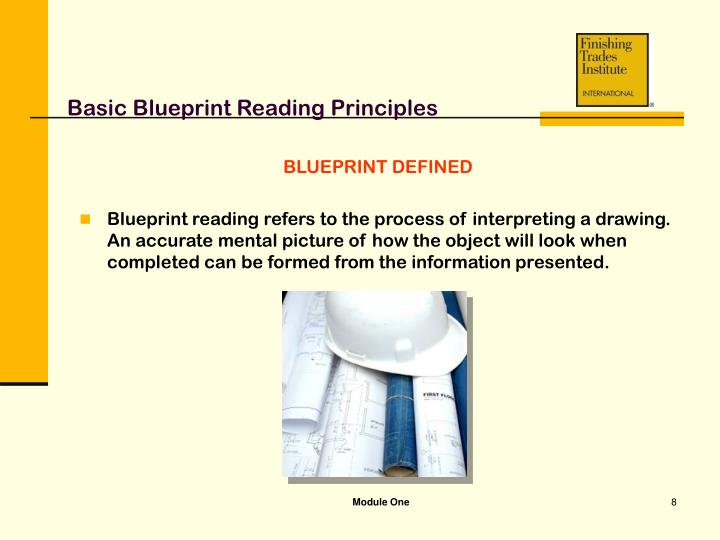 Ppt module one basic blueprint reading principles powerpoint basic blueprint reading principles blueprint defined malvernweather