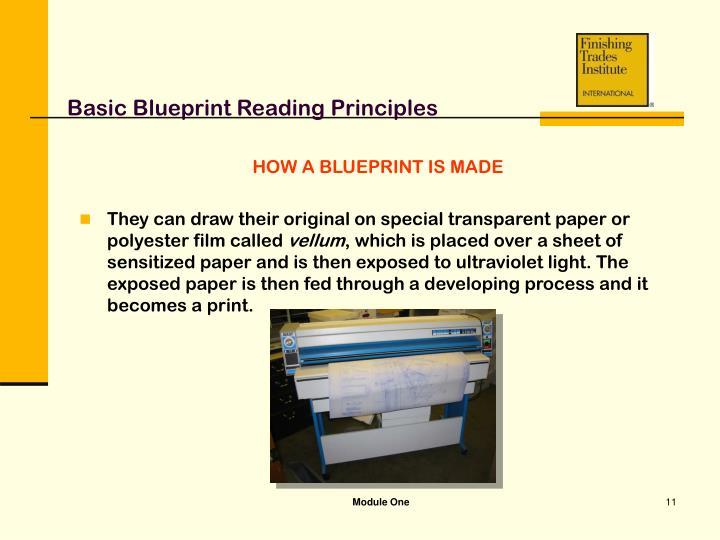 Ppt module one basic blueprint reading principles powerpoint basic blueprint reading principles malvernweather Images