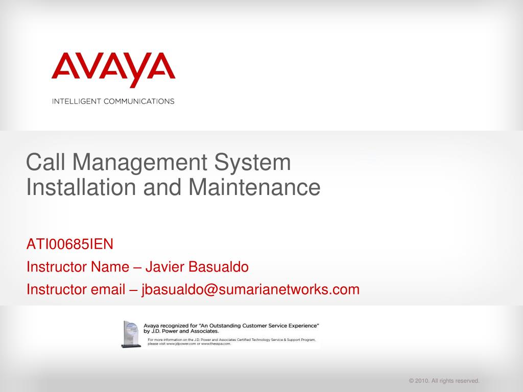 Ppt Call Management System Installation And Maintenance Powerpoint Avaya Speaker Wiring Diagram N