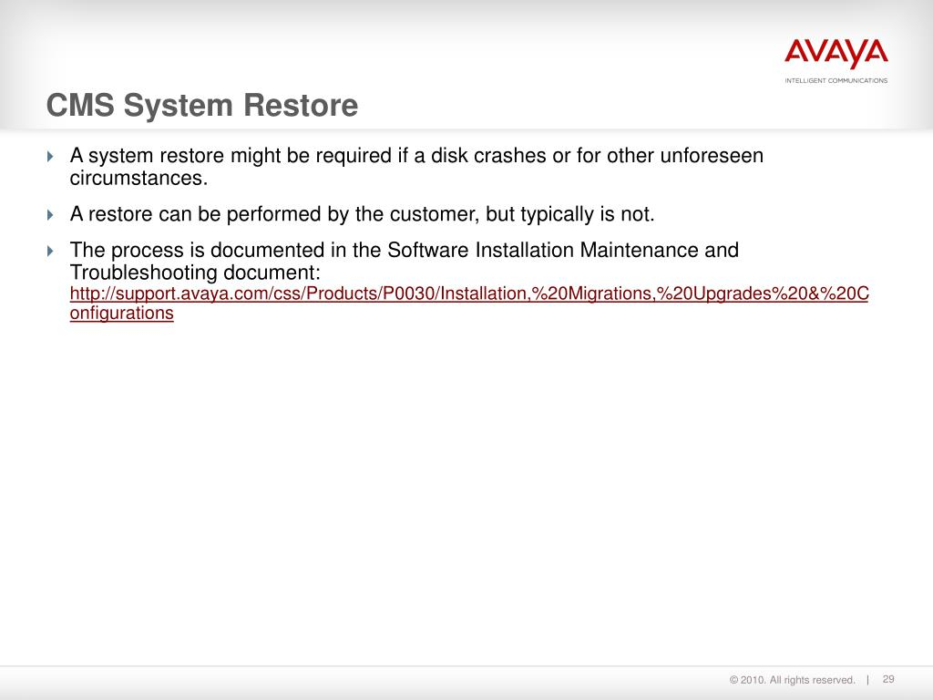 PPT - Call Management System Installation and Maintenance