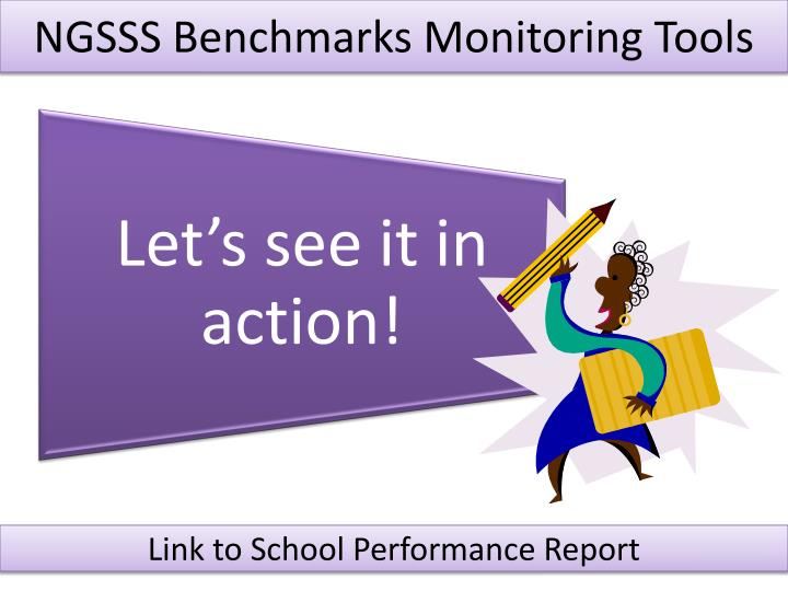 NGSSS Benchmarks Monitoring Tools