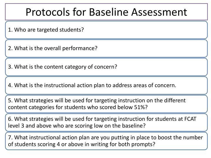 Protocols for Baseline Assessment