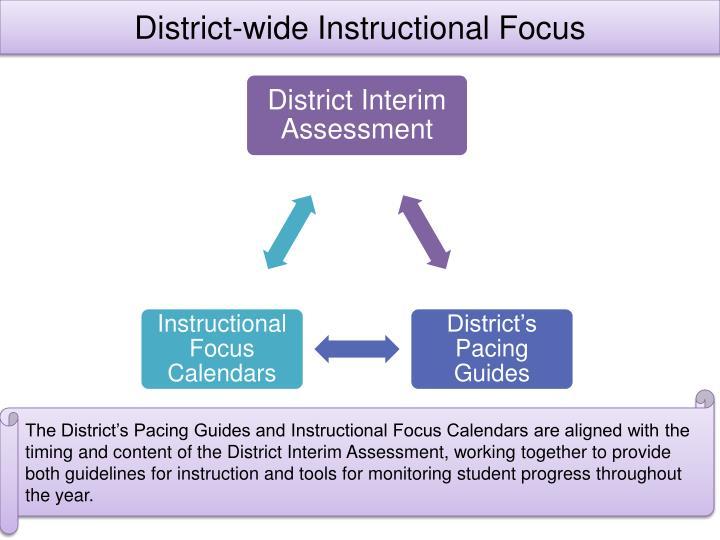 District-wide Instructional Focus