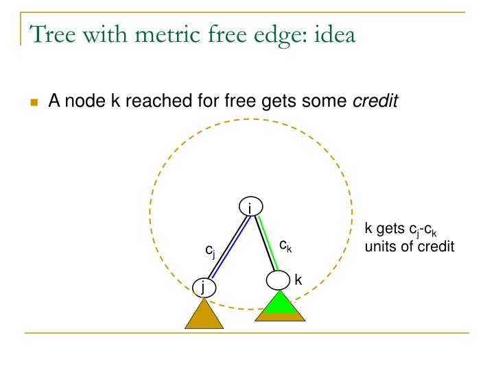 Tree with metric free edge: idea