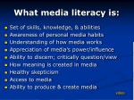 what media literacy is