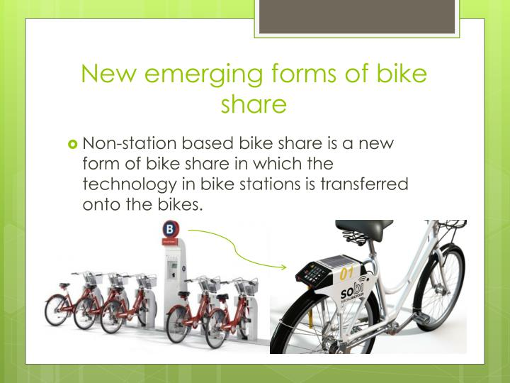 New emerging forms of bike share