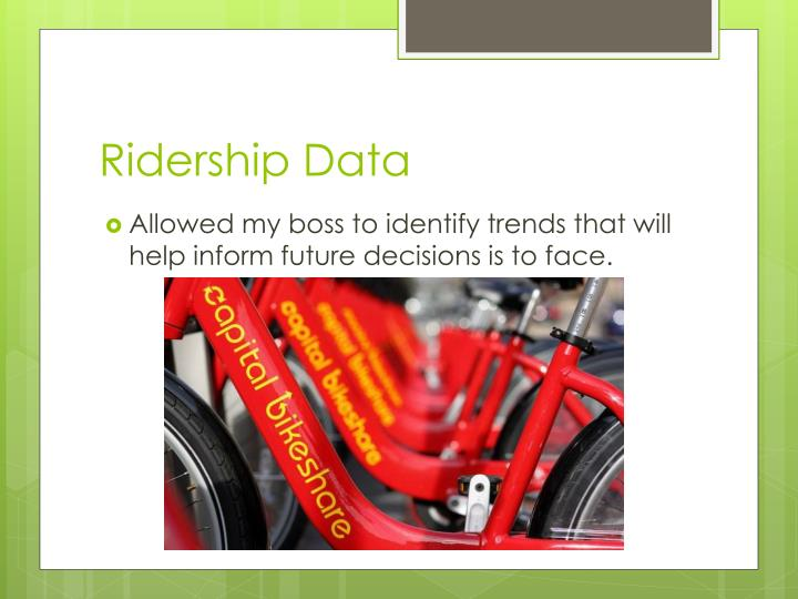 Ridership Data