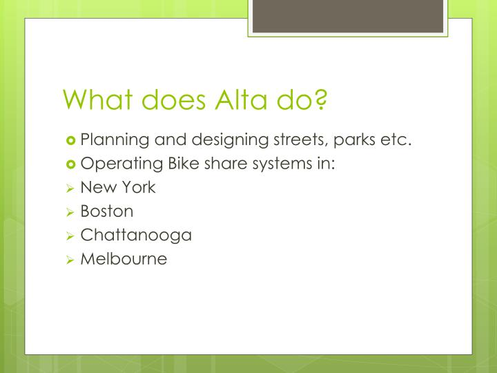 What does alta do