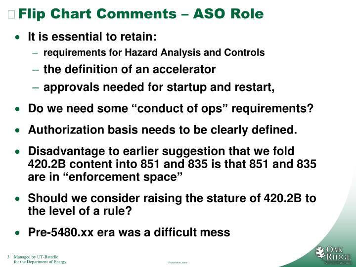 Flip chart comments aso role1