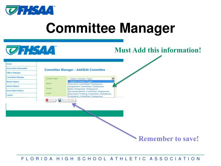 Committee Manager