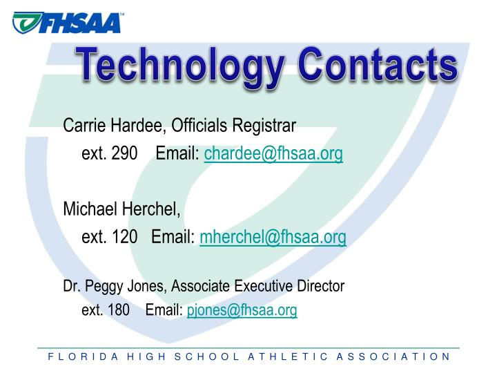 Technology Contacts