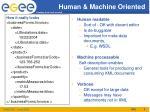 human machine oriented