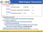 multi lingual documents
