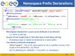 namespace prefix declarations