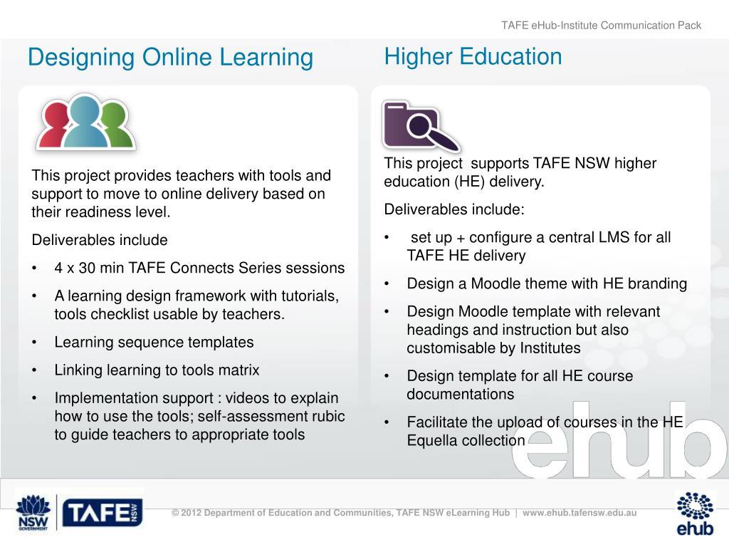 PPT - TAFE eHub PowerPoint Presentation - ID:3003920