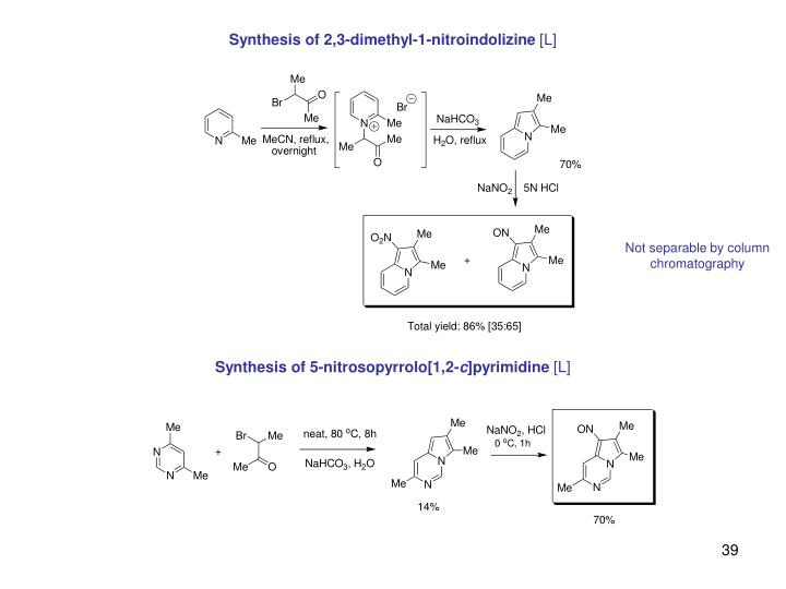 Synthesis of 2,3-dimethyl-1-nitroindolizine