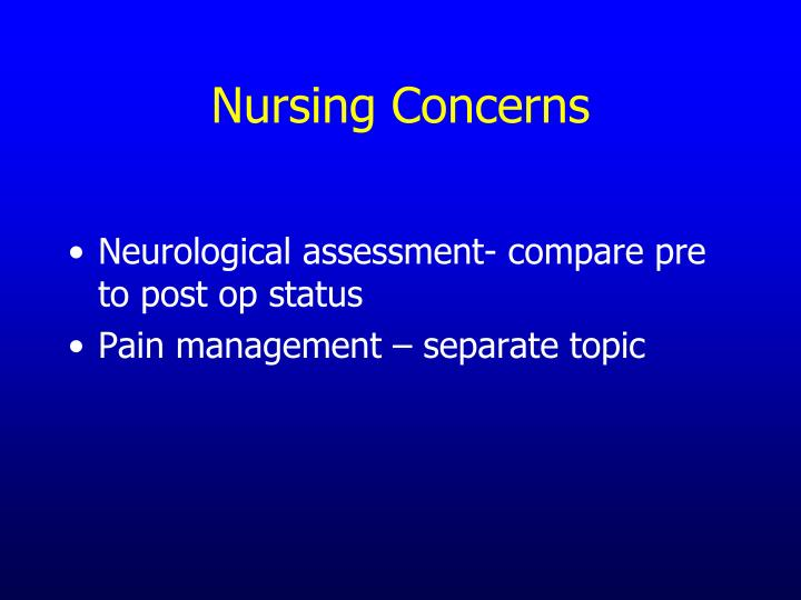 Nursing Concerns
