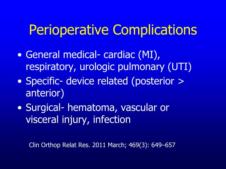 Perioperative Complications