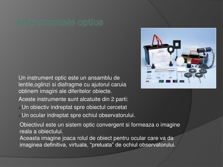 Instrumentele optice