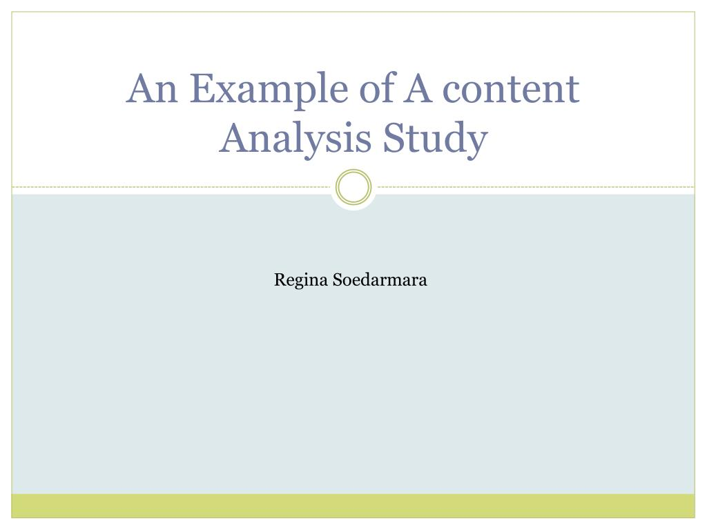 example of content analysis study