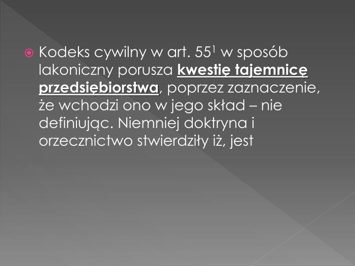 Kodeks cywilny w art. 55