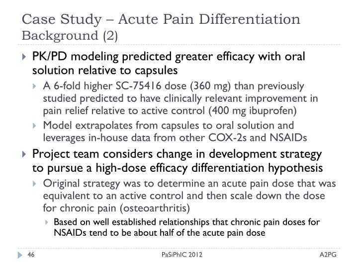 Case Study – Acute Pain Differentiation