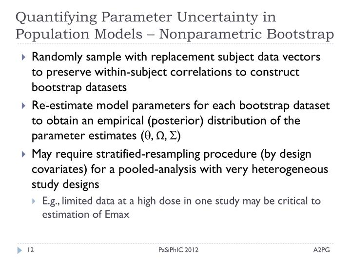 Quantifying Parameter Uncertainty in Population Models – Nonparametric Bootstrap