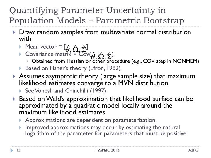 Quantifying Parameter Uncertainty in Population Models – Parametric Bootstrap