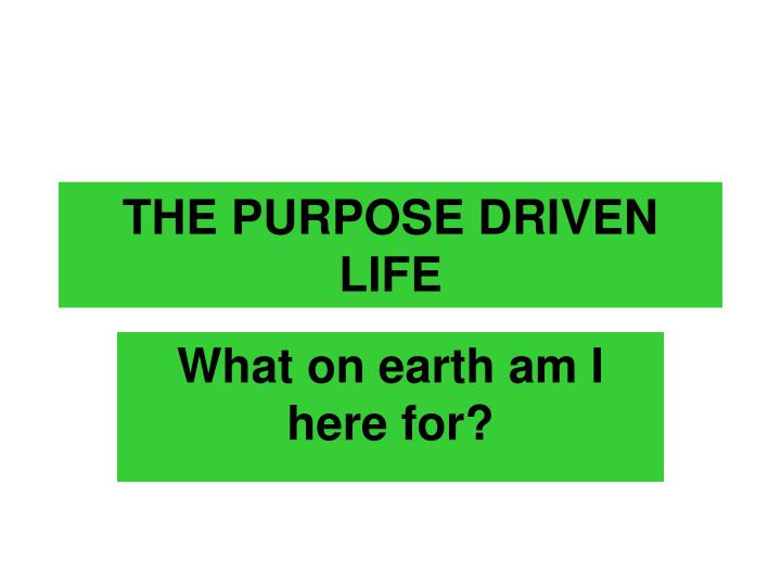 the purpose driven life journal what on earth am i here for