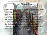 about china town