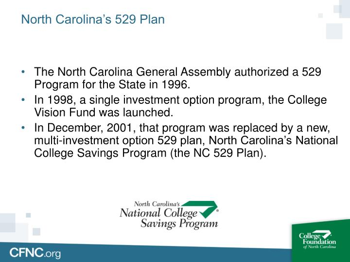 Ppt north carolina s national college savings program for 520 plan