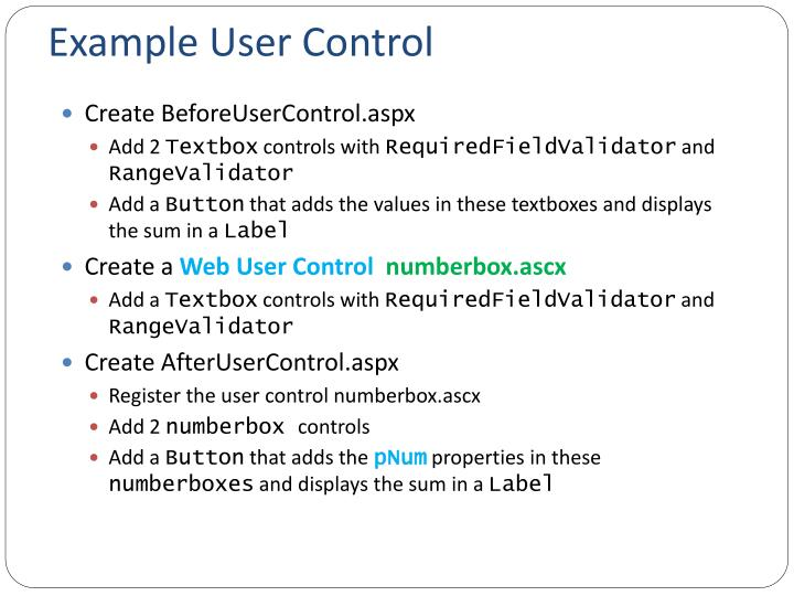 Example User Control