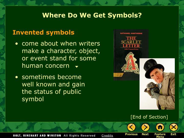 Where Do We Get Symbols?