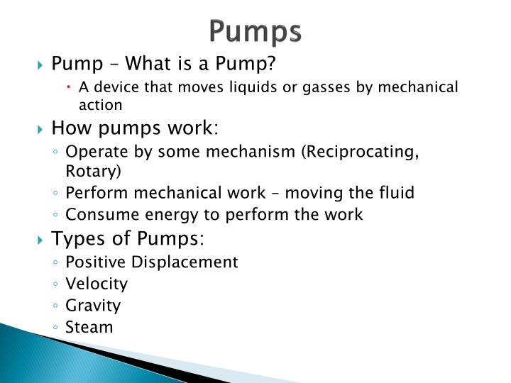 PPT - Pumps PowerPoint Presentation - ID:3005309