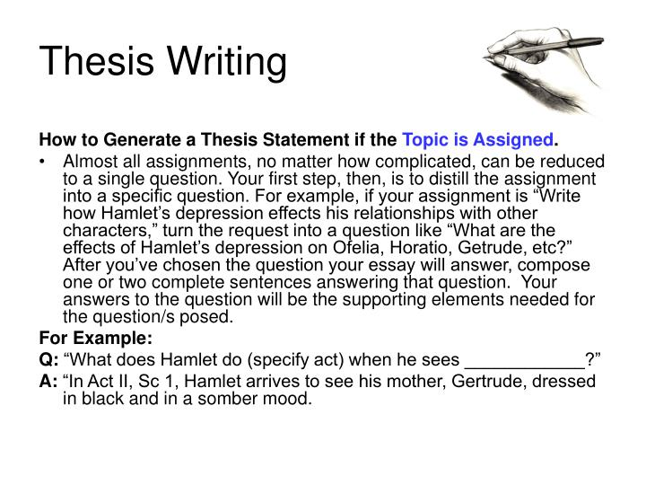 write thesis statement document based question A thesis statement consists of one or two sentences that provide the reader with a brief summary of the direction of the paper when it is time to write a thesis statement, the author should already be deeply familiar with the material and the question being answered.