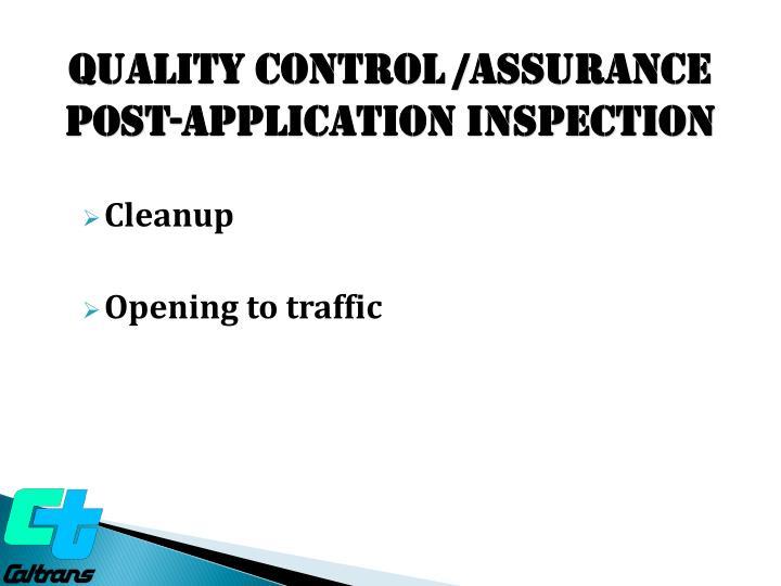 Quality Control /ASSURANCE