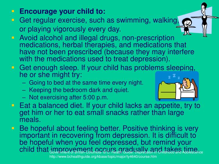 Encourage your child to: