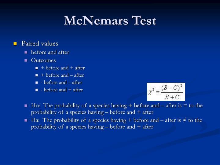 McNemars Test