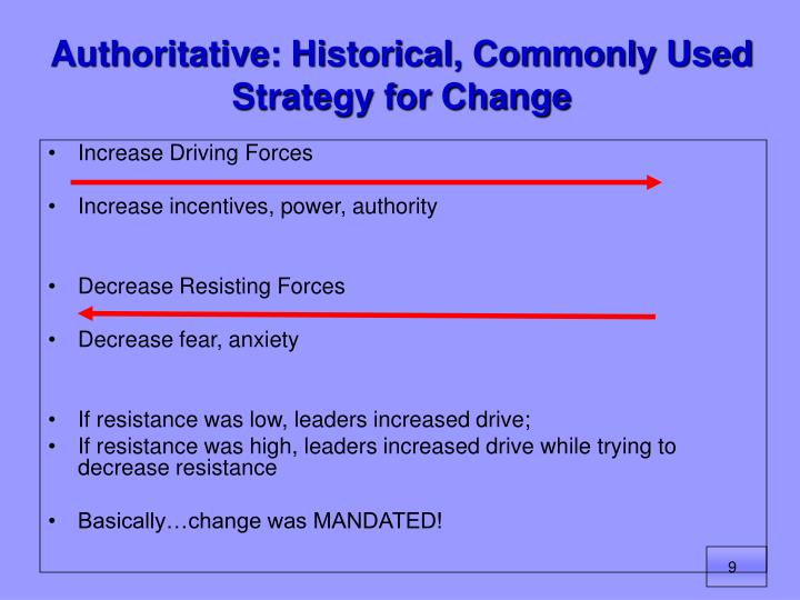Authoritative: Historical, Commonly Used Strategy for Change