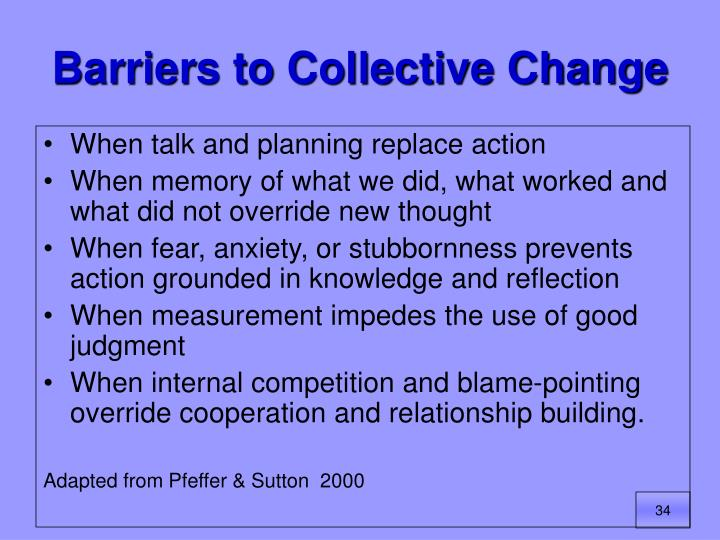 Barriers to Collective Change
