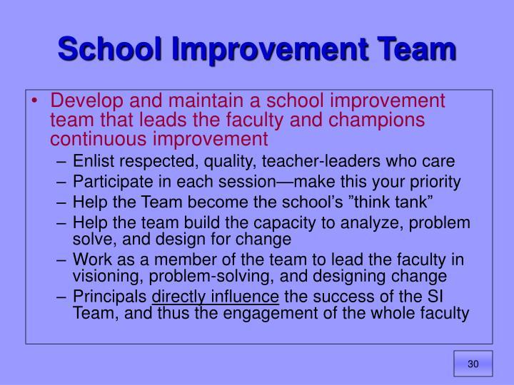 School Improvement Team