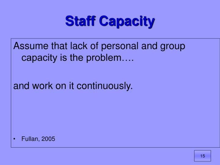 Staff Capacity