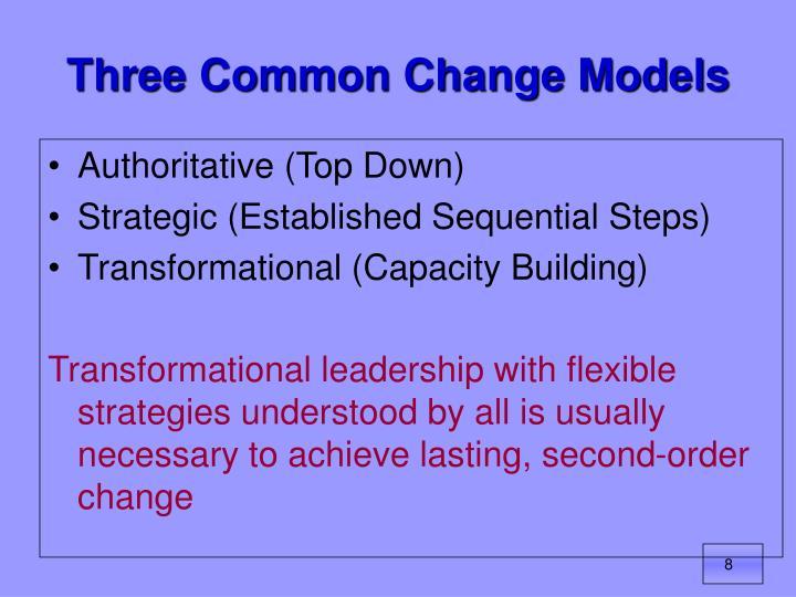 Three Common Change Models