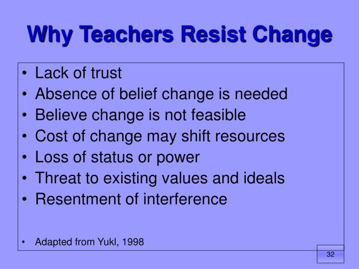 Why Teachers Resist Change
