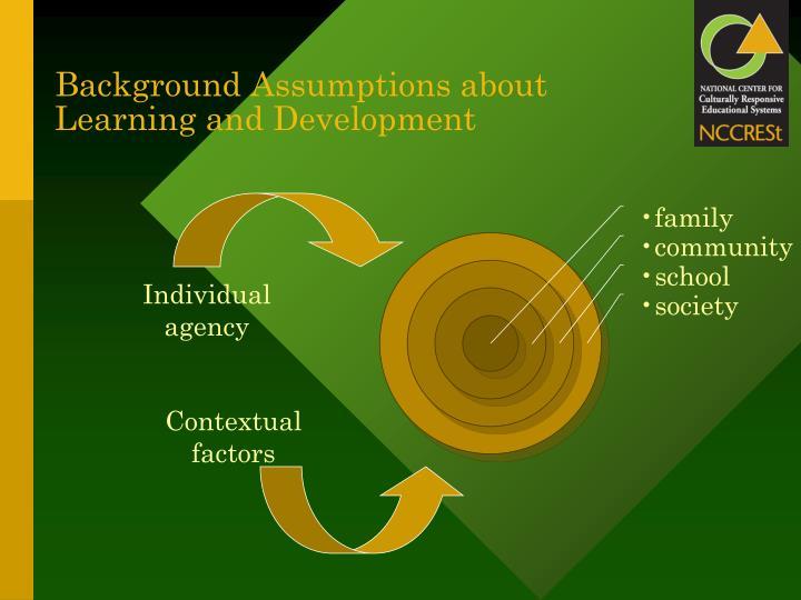 Background Assumptions about