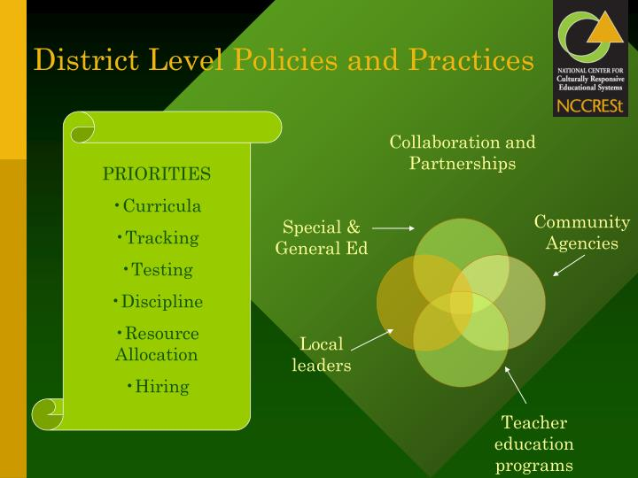 District Level Policies and Practices