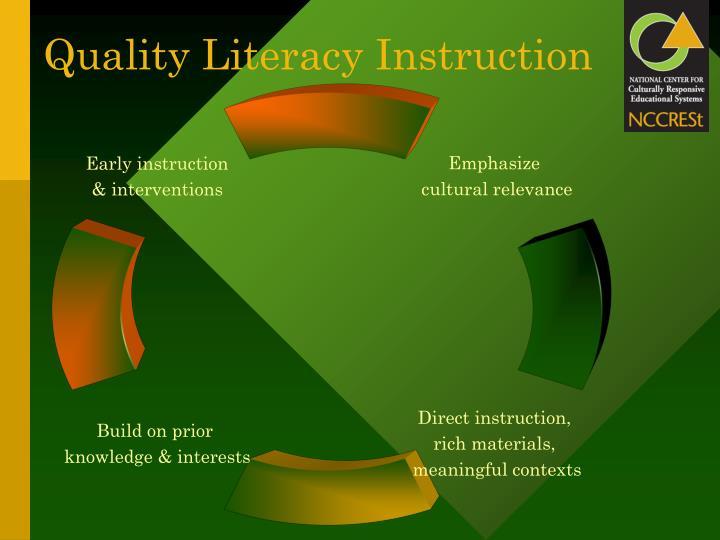 Quality Literacy Instruction