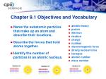 chapter 9 1 objectives and vocabulary