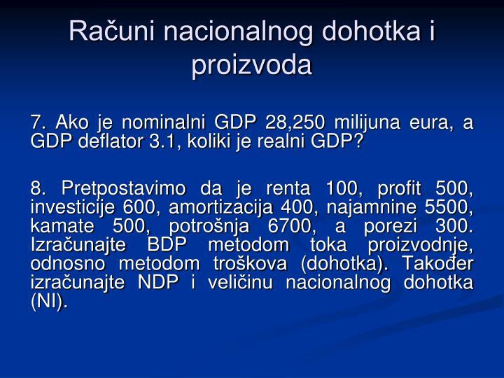 Računi nacionalnog dohotka i proizvoda